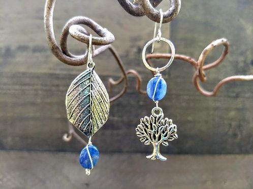 Kyanite Tree Lover Sister Earrings