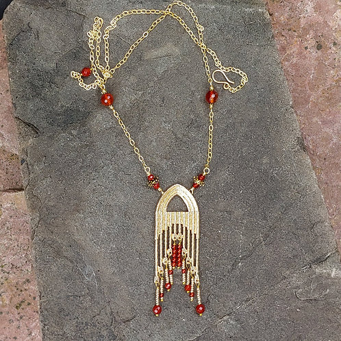 Carnelian Cleopatra Necklace