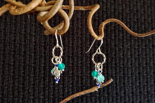 Sea Turtle Short Earrings