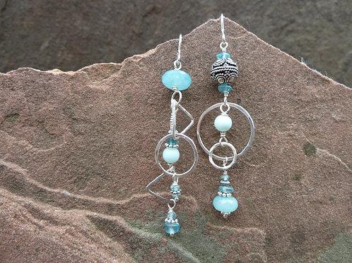 Divine Aqua Sister Earrings