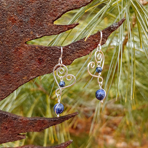 Cupid Sodalite Earrings