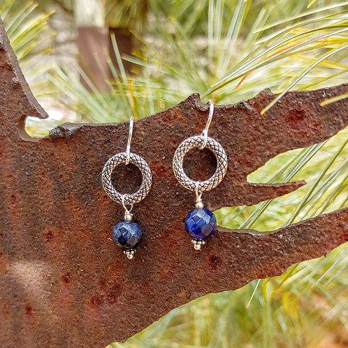Classic Textured Sodalite Earrings