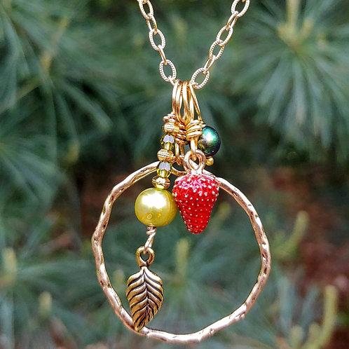 Plucky Strawberry Pendant Set #1