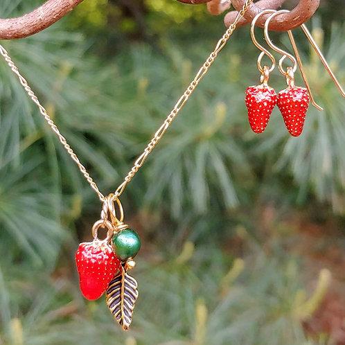 Plucky Strawberry Pendant Set #3