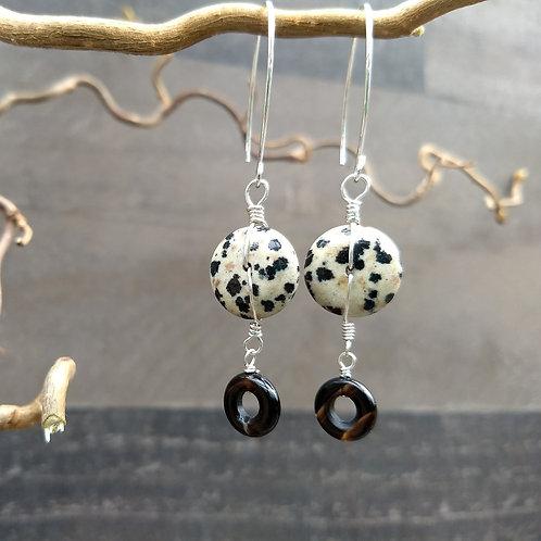 Funky Dalmatian Jasper Earrings