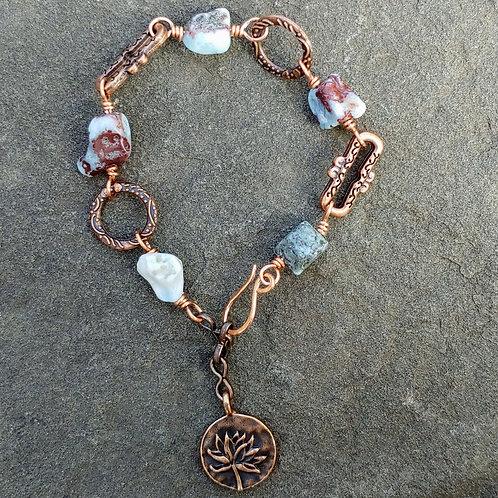 Funky Copper Larimar Bracelet