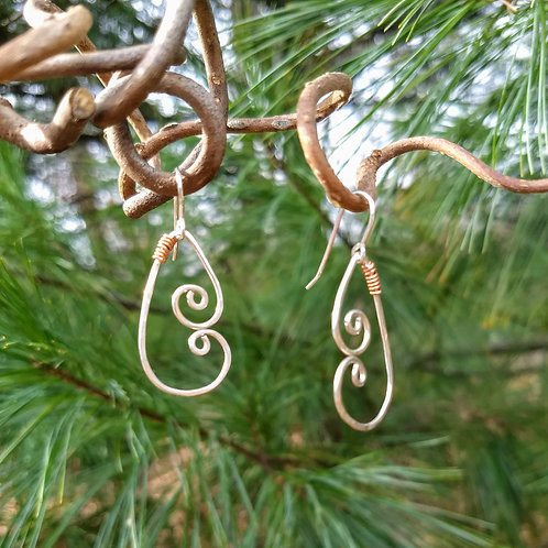 Touch of Copper Earrings