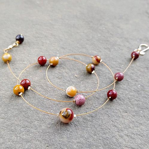 Mookaite Thread Necklace