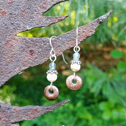 Neutral Beauty Donut  Flats Earrings