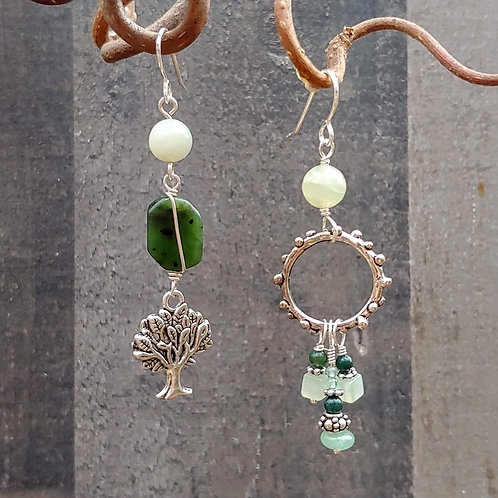 Forest Greens Sister Earrings
