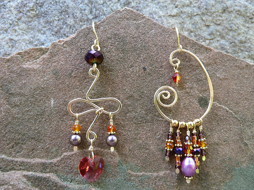 Phantasia Gold Sister Earrings