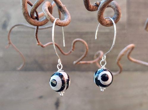 """Simple """"Evil Eye"""" Earrings"""