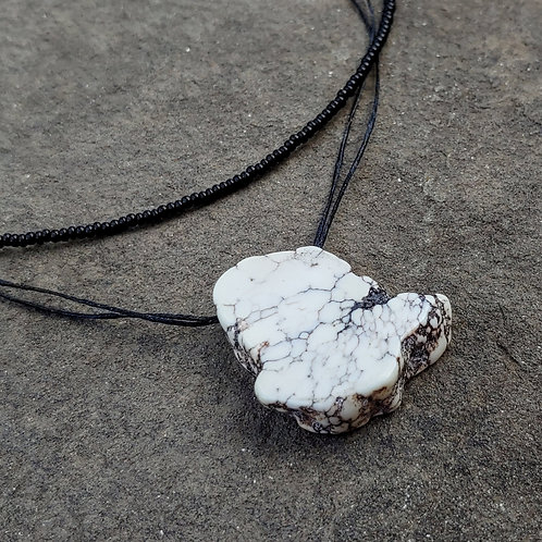White Turquoise Layered Necklace