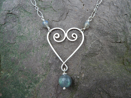 I Heart Labradorite Necklace