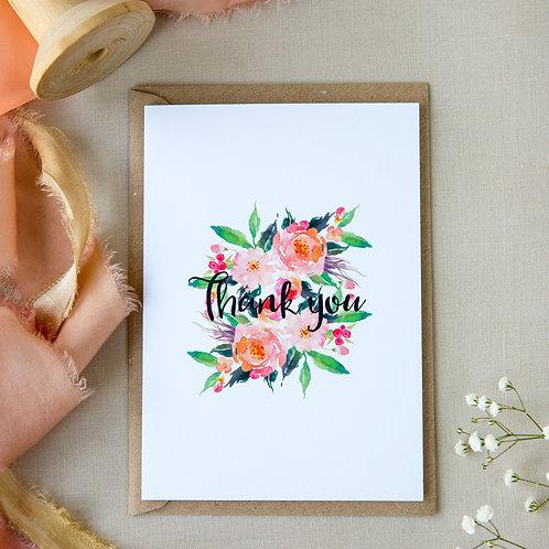 Blush Floral Thank You
