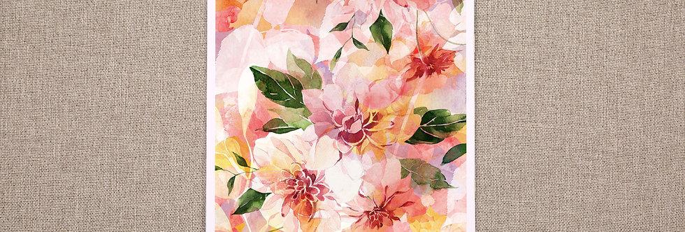 A3 Summer Days Floral Print