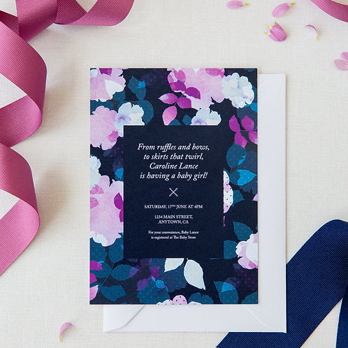 Pack of 10 Blue Spot Baby Shower Invites