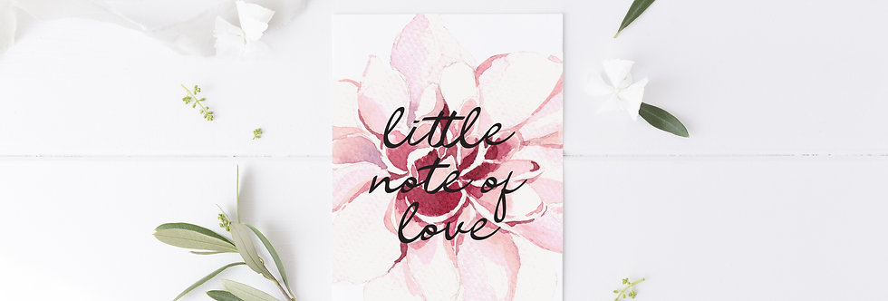 Little Note of Love Greetings Card
