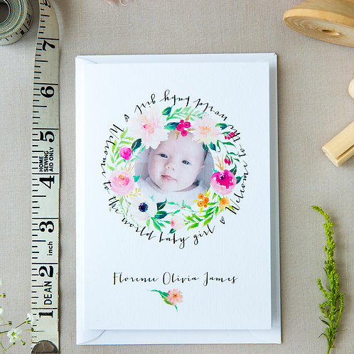 Spring Florals Baby Card