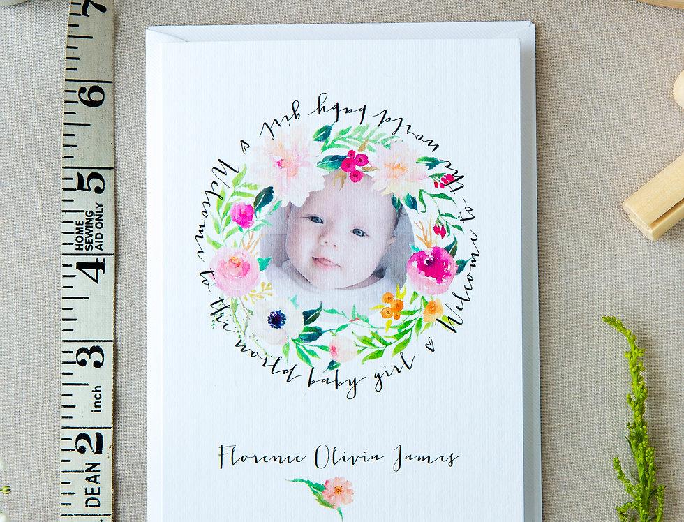 Spring Florals Baby Card