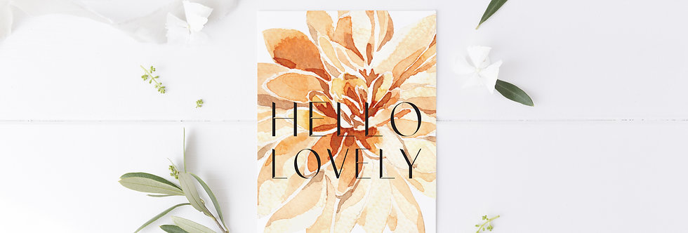 Hello Lovely Greetings Card