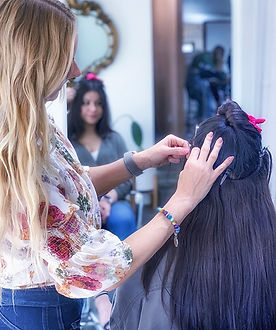 hand tied hair extensions