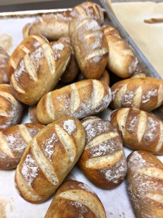Sourdough rye rolls