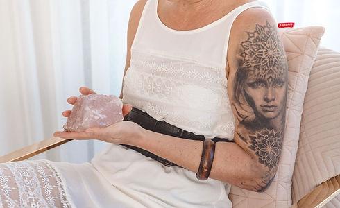 kate mantello with rose quartz