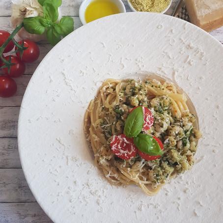 Spaghetti Aglio e Olio (mit Shrimps)