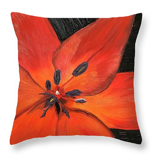 Red Lilly Pillow.