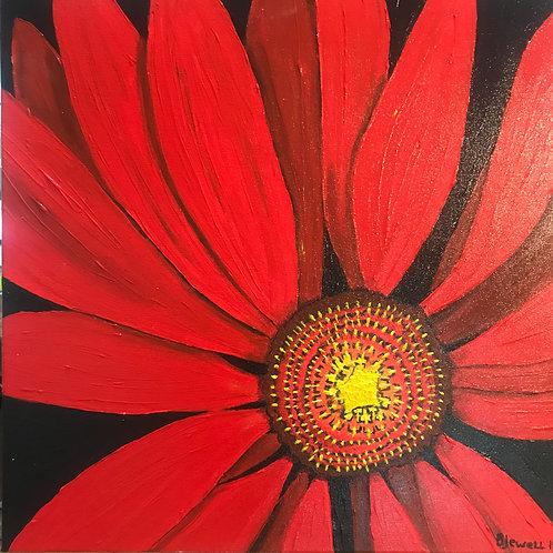 Gerbera Daisy-Acrylic.