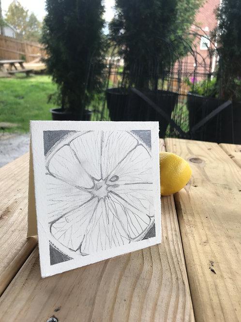 Lemon greeting cards