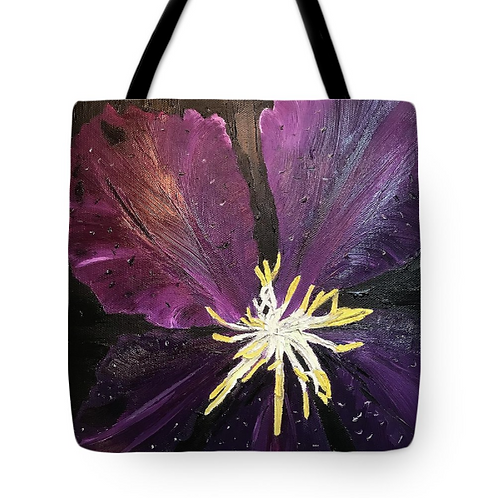 Purple Clematis Tote.
