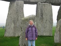 Patricia at Stonehenge