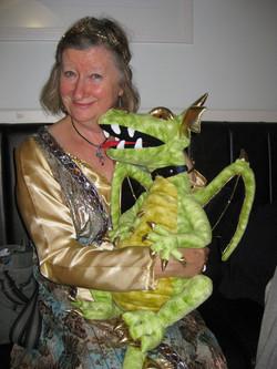 Patricia with Dragon friend