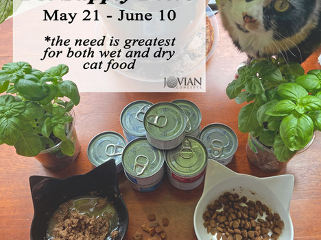 Jovian Concepts Pet Supplies Drive is On