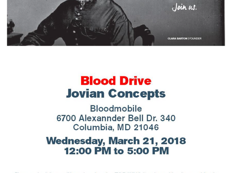 Save the Date: Jovian Concepts 2nd Annual Blood Drive