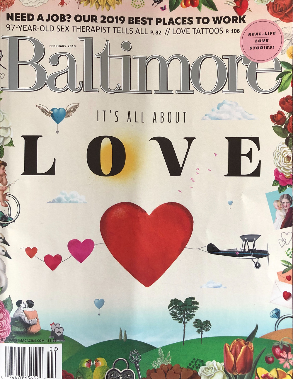 Baltimore Magazine, February 2019 cover