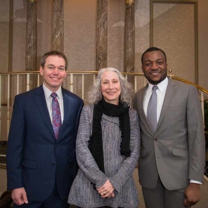 Richard Scheper, Rae Rosenthal, Cyril Ikeh (left to right); photo by Rachel Rock Photography