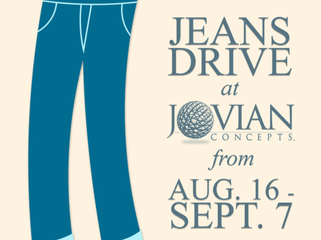 Jeans Drive Lasts Until Sept. 7th