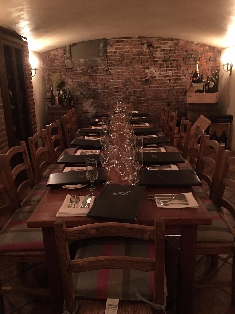Wine cellar at Aldo's Ristorante