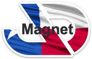 JD Magnet - Texas Flag