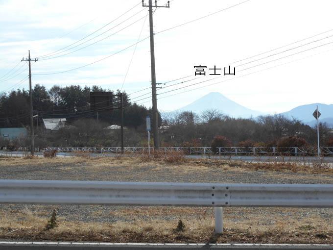 物件から富士山を望む
