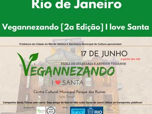 Rio de Janeiro: Vegannezando - [2a Edição] I love Santa