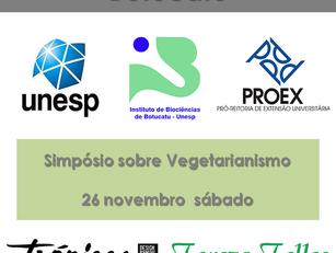 Botucatu: Simpósio sobre Vegetarianismo