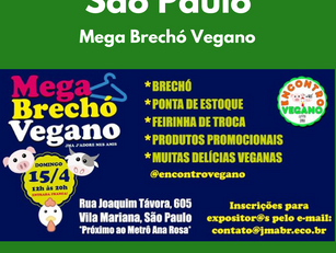 Mega Brechó Vegano JMA J'adore mes amis