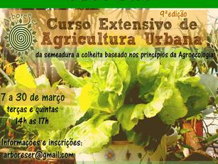 São Paulo  :   Curso Extensivo de Agricultura Urbana no ArboreSer   -  7 a 30 março