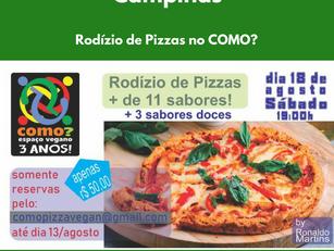 Rodízio de Pizzas no COMO?