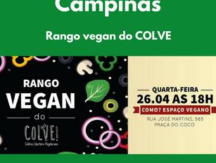 Campinas - Rango vegan do COLVE