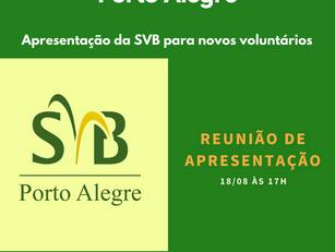 Apresentação da SVB para novos voluntários
